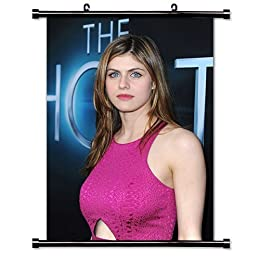 Alexandra Daddario Actress Fabric Wall Scroll Poster (16x22) Inches by WallScrollPosters [並行輸入品]