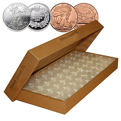 1000-Direct-Fit-Airtight-39mm-Coin-Capsules-for-1oz-SILVER-ROUND-COPPER-ROUNDS