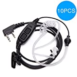 BAOFENG 10PCS 2 Pin Dual PTT Covert Air Acoustic Tube Headset Earpiece UV-82 Series Two Way Radio (Including UV-82HP, UV-82X, UV-82C, UV-82,UV-82L and Many More) (10) (Tamaño: Waterproof Earphone)