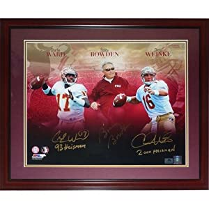 Bobby Bowden, Charlie?Ward?And Chris?Weinke Autographed FSU Florida State Seminoles... by PalmBeachAutographs.com