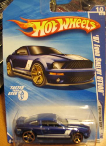 Hot Wheels Blue '07 Ford Shelby GT500 - 1