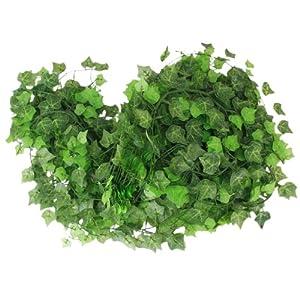 12 x Vigne Lierre Artificiel Plantes de Décoration - Feuille de Patate Douce