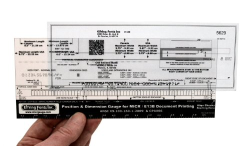 MICR Check Position Gauge (Correct Position compare prices)