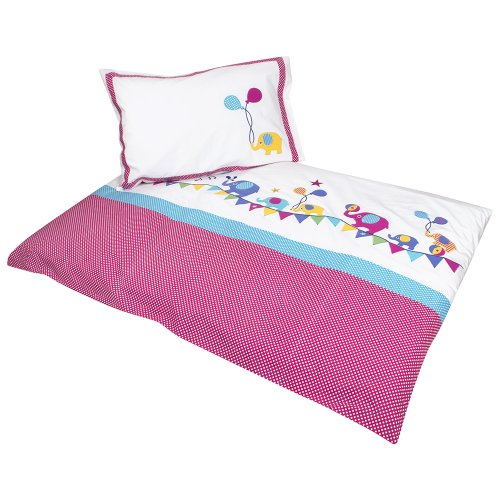 JoJo Maman Bebe Applique Cot Bed Duvet Set, Elephant