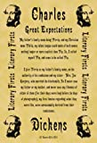 Pack of 12 Parchment Note Cards or Invitations 14cm x 10cm Each Charles Dickens Great Expectations