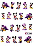 GGSELL Miao Yun Disney Mickey Minnie water transfer decals nail hydroplaning nail stickers