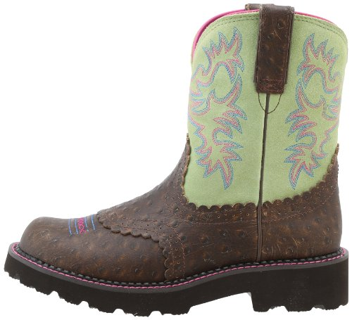 Ariat Women S Fatbaby Western Boot Distressed Ostrich 7