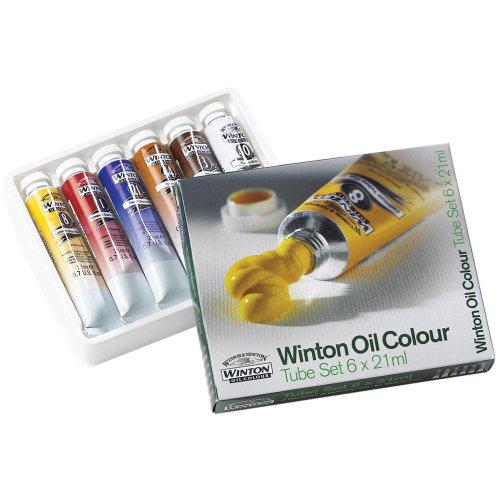 Winsor & Newton Assorted Winton 21-Milliliter Oil Paints, 6-Pack