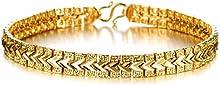 Comprar AnaZoz Joyería de Moda Pulsera Brazalete Link Para Mujeres 18K Chapado en Oro Compromiso de Boda Personalidad Simple