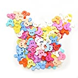 Generic Random Color 100Pcs Cartoon Pattern 10mm DIY Buttons Sewing Clothes Button