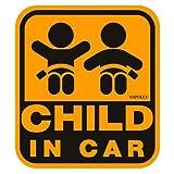 セーフティーサイン CHILD IN CAR ウインドウステッカー 内貼 特殊吸盤 SF-20