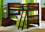 Bunk Bed Twin Over Twin Mission Style in Light Espresso