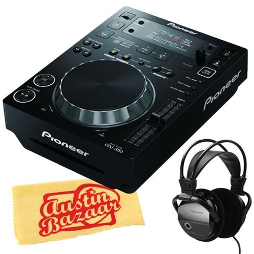Pioneer Djm-350 2-Channel Dj Performance Mixer Bundle With Pioneer Se-M390 Headphones And Polishing Cloth