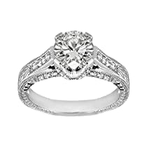 Size-4.75 1//20 cttw, G-H,I2-I3 3 Diamond Promise Ring in 14K Pink Gold