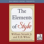The Elements of Style (Recorded Books Edition) | [William Strunk, E. B. White]