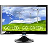 Viewsonic VX2450WM-LED 24-Inch (23.6-Inch Vis) Widescreen LED Study with Full HD 1080p and Speakers - Black