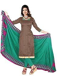 Fabgruh Presents Art Silk Dress Material(Brown)