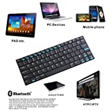 84 Keys QWERTY Rii Mini i9 Ultra Slim Bluetooth Wireless Keyboard for PC HDPC TV