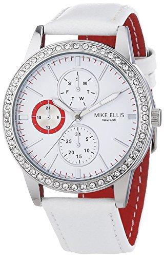 Mike Ellis New York Damen-Armbanduhr Analog Quarz Leder SL4-60227