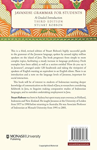 Javanese Grammar for Students: A Graded Introduction (Monash Asia)