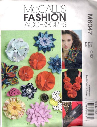 McCall's Patterns M6047 Fabric Flowers, All Sizes