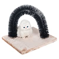 Favorite® Cat Self Grooming Arch/ Arch Cat Self Groomer with Square Fleece Base/ Cat Toy With Grooming Brush