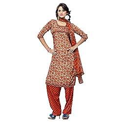 Triveni Women's Crape Salwar Kameez Dress Material (TSHCSSK6752A_Multi)