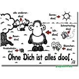 "sheepworld Postkarte ""Ohne Dich ist alles doof"" Nr. 74"