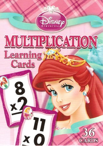 Disney Princess Multiplication Learning/Flash Cards (Lite Pink Box) - 1