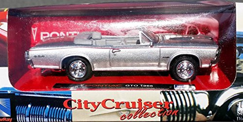 1966 Pontiac GTO Convertible Muscle Car in 1:43 Scale or LIONEL O/O27 Scale Diecast Metal by City Cruiser - 1