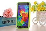 Nancy's Shop TPU 2pc Layered Hard Case Cover Rubber Bumper for Samsung Galaxy S5 Sv(yellow Llightgreen White)
