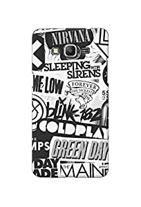 Gobzu Printed Hard Case Back Cover for Samsung Galaxy Grand Prime - SM G530H - Sleeping with Sirens