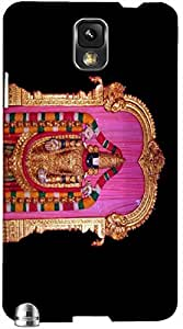 Timpax Protective Hard Back Case Cover With access to all controls and ports Printed Design : lord venkateswara.100% Compatible with Samsung Galaxy Note 3 ( N9000 )