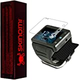 Skinomi® TechSkin - Neptune Pine Smartwatch Screen Protector + Carbon Fiber Black Full Body Skin Protector / Front & Back Premium HD Clear Film / Ultra High Definition Invisible and Anti Bubble Crystal Shield with Free Lifetime Replacement Warranty - Retail Packaging