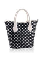 Tina Panicucci Bolso shopping (Negro / Crema)