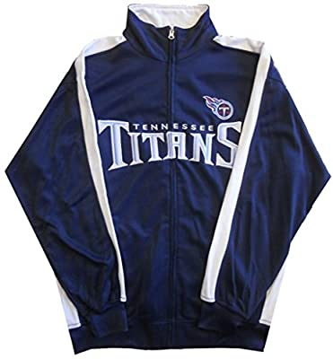 Tennessee Titans NFL End Zone Full Zip Mens Track Jacket Big & Tall Sizes