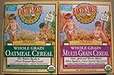 Earths Best Organic Whole Grain Oatmeal & Multi-grain Cereal (One 8 Oz Box of Each)