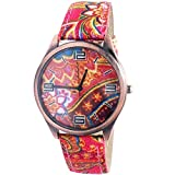Super Drool Pink Paisley Wrist Watch