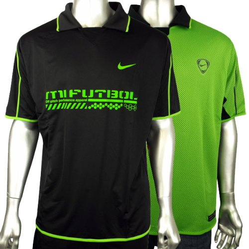 Mens Nike Dry Dri FIT Football Running Shirt Training Top Gym Polo Tee Size XL