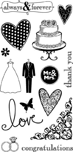Hampton Art Wedding Clear Rubber Stamp - 1