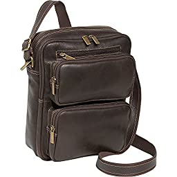 Le Donne Leather Distressed Leather Multi Pocket iPad / eReader Mens Bag