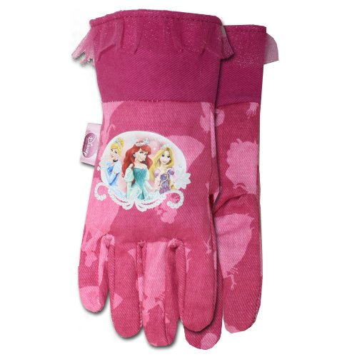 Midwest Glove Pr101T Disney Princess Canvas Glove, Light Pink front-654851
