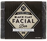 Saltspring Soapworks Stone Bay Natural Facial Hair, Black Clay, 4.3 Ounce