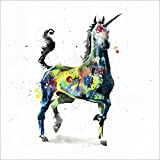 """Tallenge Art For Kids - Unicorn - Small Size Rolled Canvas Art Print For Kids Room Décor (12""""x12"""")"""