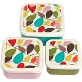 Set Of 3 dotcomgiftshop Vintage Ivy Snack Boxes