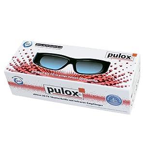 2x 3D Shutterbrille N05IR - Universal 3D Active Shutter 3D Brille mit Infrarot von PULOX passend für Samsung (LCD/LED), Philips, Sharp, Toshiba, Sony, Panasonic, LG, Mitsubishi