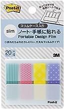ポスト・イット ジョーブ ポータブルデザインフィルム 38x12mm 20枚x4 PDF- BN