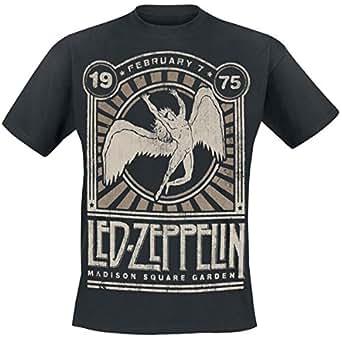 Led zeppelin madison square garden 1975 t shirt schwarz bekleidung for Led zeppelin madison square garden