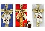 Guylian Belgian Handwrapped Giftboxes pack of 3. Red (La Trufflina), Blue (Opus), Silver (Seashells)