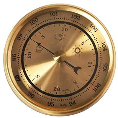 """Gold 2 3/4"""" (70mm) Barometer Fit-Up from Klockit"""